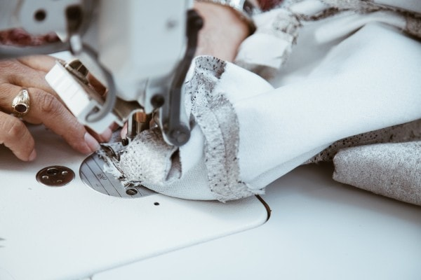 Closeup of Sewing Machine