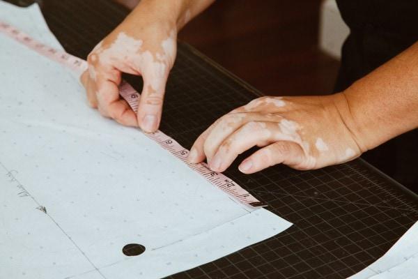 Closeup of Design Measurements