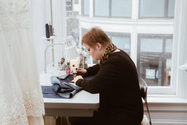 Patternmaker working on fashion design