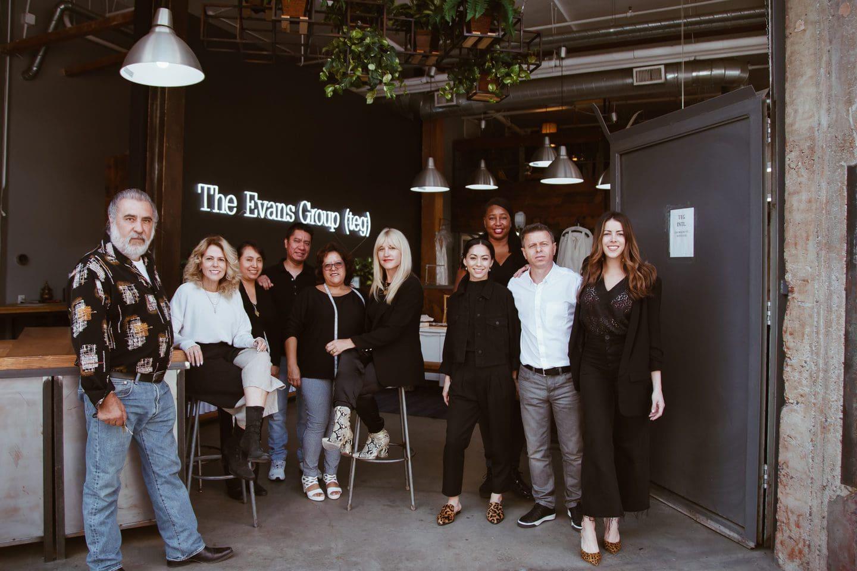 The Evans Group fashion design team