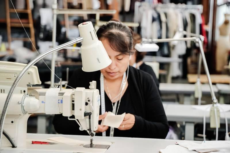 closeup sewing