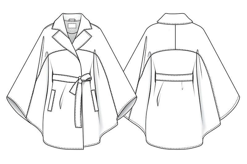 Fashion flat for design sketches