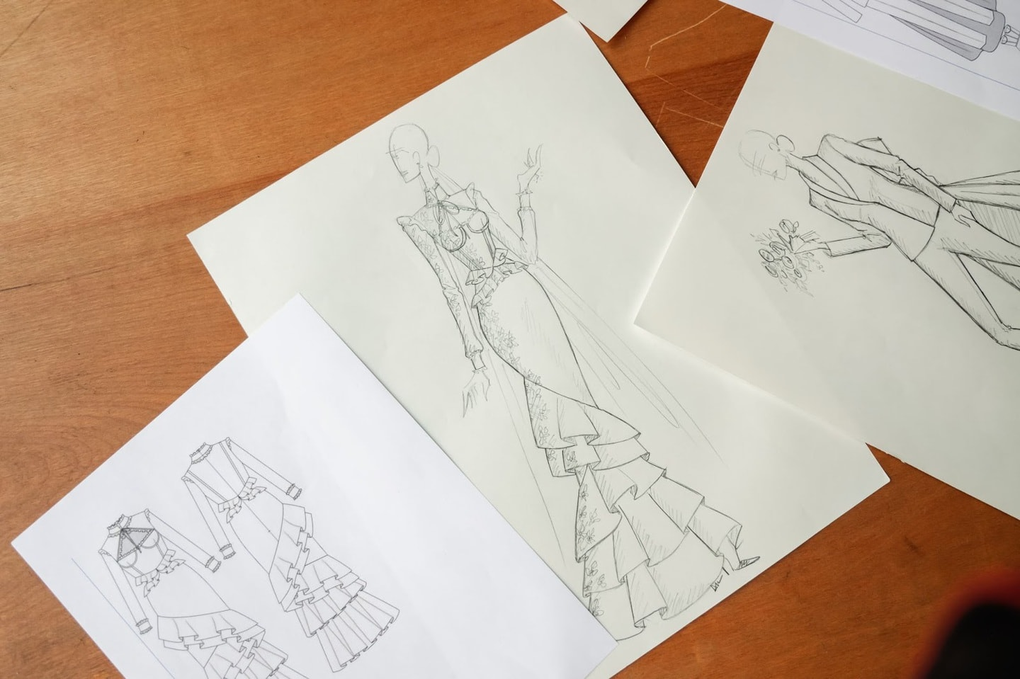 A clothing manufacturer's fashion sketch