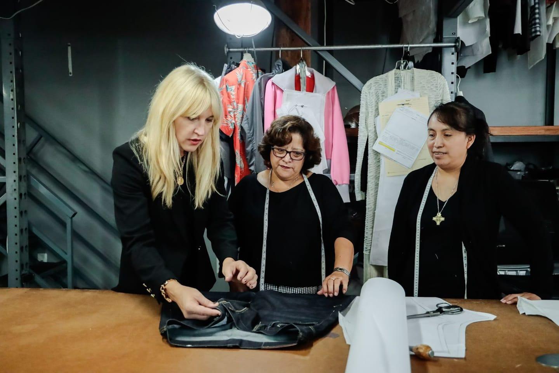 Jennifer Evans designing clothing alongside LA seamstresses