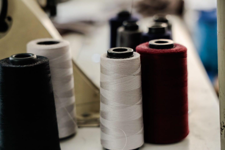 Closeup of spools of thread to create bespoke fashion